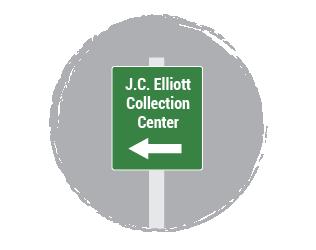 J.C. Elliott Collection Center Sign